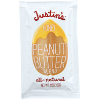 Justins Nut Butter Peanut Butter Blend - Honey - Squeeze Pack - 1.15 oz - case of 60