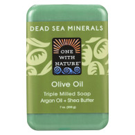 One With Nature Dead Sea Mineral Olive Oil Soap - 7 oz