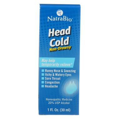NatraBio Head Cold Non-Drowsy - 1 fl oz