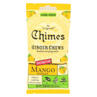 Chimes Ginger Chews - Tropical Mango - 1.5 oz - Case of 12
