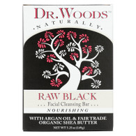 Dr. Woods Face Cleansing Bar - Raw Black - 5.25 oz