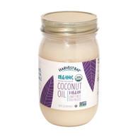 Harvest Bay Organic Coconut Oil - Extra Virgin Unrefined - Case of 6 - 14 Fl oz.
