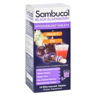 Sambucol Original - Plus Vitamin C and Zinc - Effervescent Tabs - 15 Count