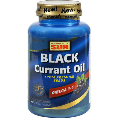 Health From the Sun Black Currant Oil - 1000 mg - 60 Softgels