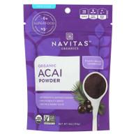Navitas Naturals Acai Powder - Organic - Freeze-Dried - 4 oz - case of 12