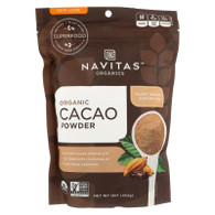 Navitas Naturals Cacao Powder - Organic - Raw - 16 oz - case of 6