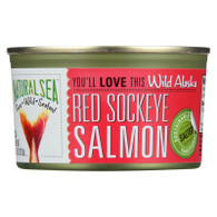 Natural Sea Salmon - Red Sockeye - Wild Alaska - Salted - 7.5 oz - case of 24