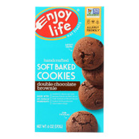 Enjoy Life Cookie - Soft Baked - Double Chocolate Brownie - Gluten Free - 6 oz - case of 6
