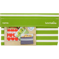 Lunchskins Snack Bag - Green Stripe
