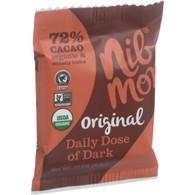NibMor Organic Daily Dose of Dark - Original 72 Percent Cacao - .35 oz - Case of 60