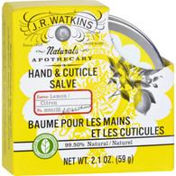 J.R. Watkins Hand and Cuticle Salve - Lemon - 2.1 oz