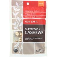 Navitas Naturals Cashews - Organic - Superfood Plus - Goji Basil - 4 oz - case of 12