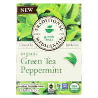 Traditional Medicinals Tea - Organic - Green Tea - Ppprmnt - 16 ct - 1 Case