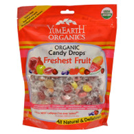 Yummy Earth Organic Candy Drops Freshest Fruit - Case of 12 - 13 oz