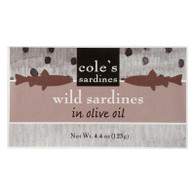 Cole's Portuguese Sardines in Olive Oil - 4.4 oz - Case of 10
