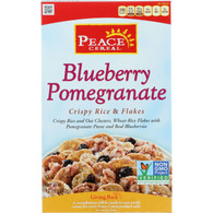 Peace Cereals Cereal - Crispy Rice and Flakes - Blueberry Pomegranate - 12 oz - case of 6