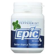 Epic Dental Mints - Peppermint Xylitol Bottle - 180 ct