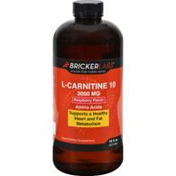 Bricker Labs Carnipure L-Carnitine Raspberry - 3000 mg - 16 fl oz