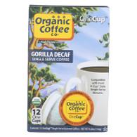 Organic Coffee Company OneCups - Gorilla Decaf - Case of 6 - 4.65 oz.