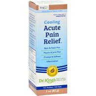 King Bio Homeopathic Acute Pain Relief Cream - 3 oz