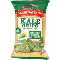 Garden Of Eatin Tortilla Chips - Organic - Kale - 6 oz - case of 12