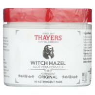 Thayers Witch Hazel with Aloe Vera - 60 Pads