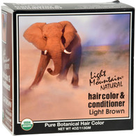 Light Mountain Natural Hair Color and Conditioner Light Brown - 4 fl oz