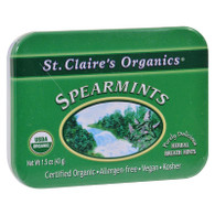 St Claire's Organic Spearmints Display Case - Case of 6 - 1.5 oz