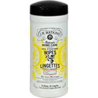 J.R. Watkins All Purpose Wipes Lemon - 35 Wipes