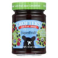 Crofters Fruit Spread - Organic - Just Fruit - Superfruit - 10 oz - case of 6