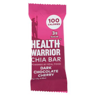 Health Warrior Chia Bar - Dark Chocolate Cherry - .88 oz Bars - Case of 15