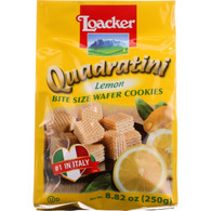 Loacker Wafer Cookie - Quadratini - Lemon Creme - 8.82 oz - case of 8