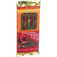 Coco Polo Chocolate Bar - 70 Percent Dark Cherry - Case of 10 - 2.5 oz Bars