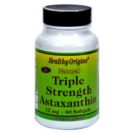 Healthy Origins Astaxanthin Triple Strength - 12 mg - 60 Softgels
