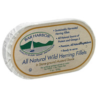 Bar Harbor Wild Herring Fillets - Stone Ground Mustard Sauce - Case of 12 - 7 oz.