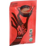 NibMor Organic Drinking Chocolate Mix - 6 Spice - 1.05 oz - Case of 6