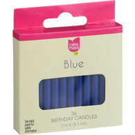 Cake Mate Birthday Party Candles - Round - Blue - 2 in x 3/16 in - 36 Count - Case of 12