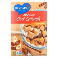 Barbara's Bakery Morning Oat Crunch Cereal - Cinnamon - Case of 6 - 14 oz.
