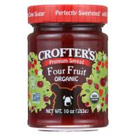 Crofters Fruit Spread - Organic - Premium - Four Fruit - 10 oz - case of 6
