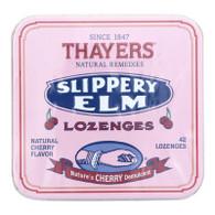 Thayers Slippery Elm Lozenges Cherry - 42 Lozenges - Case of 10