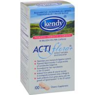 Kendy USA Prebiotic Probiotic Symbiotic ActiFlora Plus - 100 Capsules
