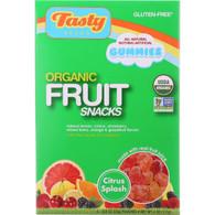 Tasty Brand Fruit Snacks - Organic - Citrus Splash - 4 oz - case of 6