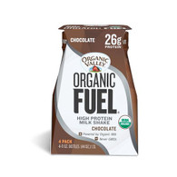 Organic Valley Fuel Milk Protien Shake - Chocolate - Case of 3 - 4/11oz Bottle