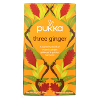Pukka Herbal Teas Tea - Organic - Three Ginger - 20 Bags - Case of 6
