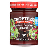 Crofters Fruit Spread - Organic - Premium - Raspberry - 10 oz - case of 6