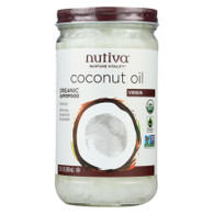 Nutiva Organic Virgin Coconut Oil - Case of 6 - 23 oz.