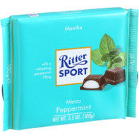 Ritter Sport Chocolate Bar - Dark Chocolate - Peppermint - 3.5 oz Bars - Case of 12