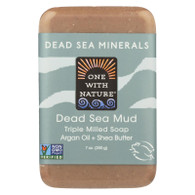 One With Nature Dead Sea Mineral Dead Sea Mud Soap - 7 oz