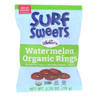 Surf Sweets Organic Rings - Watermelon - 2.75 oz - Case of 12