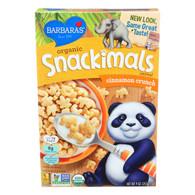 Barbara's Bakery Organic Snackimals Cereal - Cinnamon Crunch - Case of 12 - 9 oz.